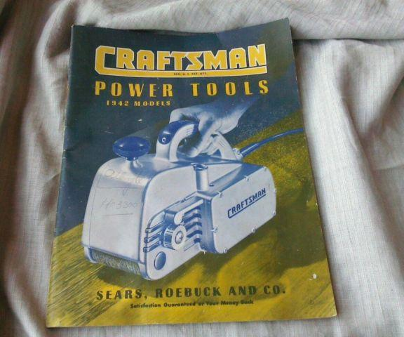 Vintage 1940s Craftsman Power Tools 1942 Models Manual With WW2 AD