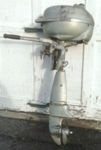 Vintage 1946 johnson seahorse outboard hd 25 motor 2 5 hp for Greenes boat and motor