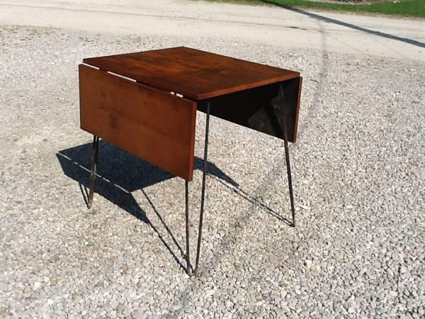 Vintage 1950u0027s Drop Leaf Table   Hair Pin Legs   $75