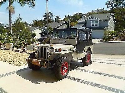 vintage 1951 willys jeep cj3a for sale in carlsbad california classified. Black Bedroom Furniture Sets. Home Design Ideas