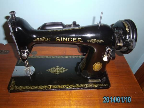 Vintage 1953 Singer Sewing Machine w/ cabinet - $200 - Vintage 1953 Singer Sewing Machine W/ Cabinet - For Sale In