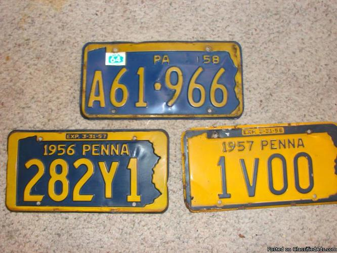 USA State License Plates Personalized License Plate