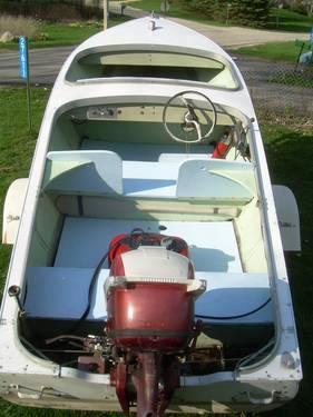 Vintage 1956 Lonestar 15ft Aluminum Boat 1957 35hp Johnson