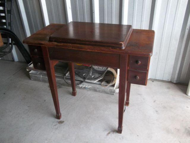 singer sewing machine cabinet 1960