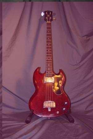Vintage 1965 GIBSON EB-0 ELECTRIC BASS WITH NEW SG