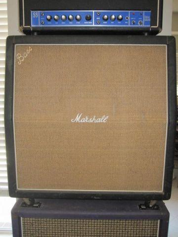 Vintage 1968 Marshall 4x12 Cabinet - Pre-Rola, CLEAN