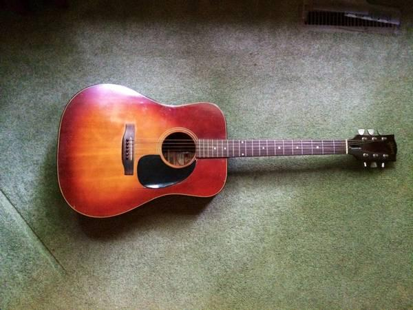 vintage 1970 gibson j 45 deluxe guitar for sale in dundas illinois classified. Black Bedroom Furniture Sets. Home Design Ideas