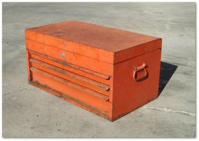 Vintage 1976 - SNAP-ON - Tool Box Chest, 3 drawers. Model No. KRM-54