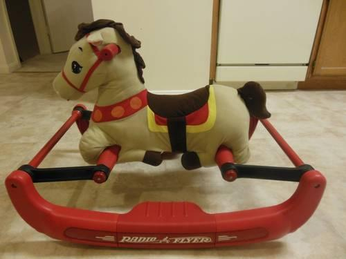 Vintage 1983 Hand Made Large Rocking Horse On Sale Was 275