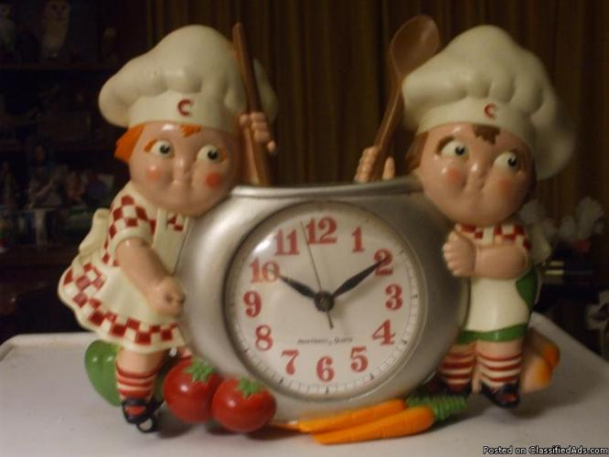 Vintage 1990 Campbell Soup Kids Clock For Sale In