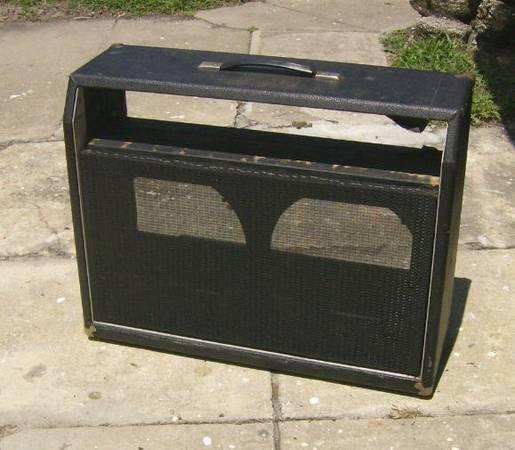 vintage 2 12 combo guitar amp cabinet project for sale in daytona beach florida classified. Black Bedroom Furniture Sets. Home Design Ideas