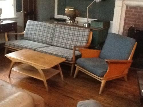 Vintage 3 Piece Sofa Set Of Heywood Wakefield Aristocraft