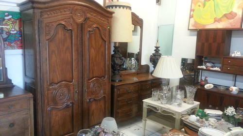 Vintage 4 Piece Pecan Solid Wood Bedroom Set Amazing For Sale In Fort
