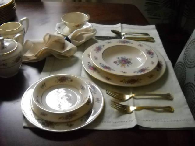 Vintage 40's Lenox Rose China - 85 Pieces