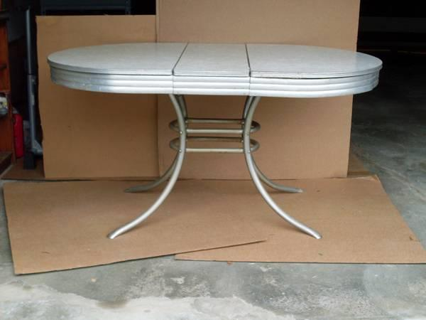 Vintage 50 S Formica Chrome Kitchen Table 150