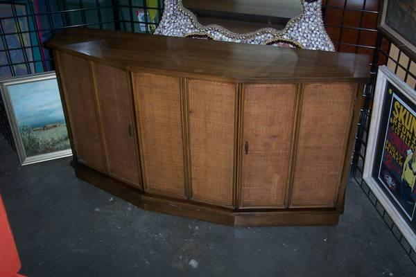 vintage 60s CABINET CONSOLE modern  tv stand - $249