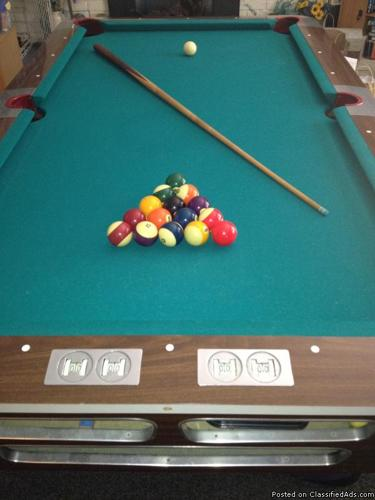 Vintage 7 X 4 Valley Pool Table And Accessories For Sale
