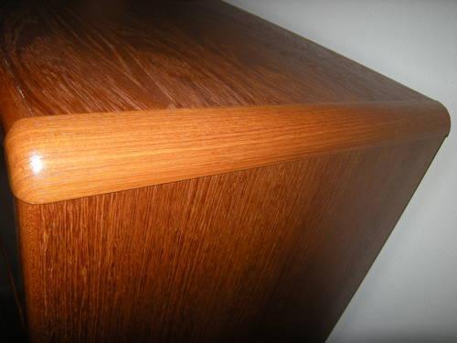 Vintage 80s modern danish style teak 5 drawer dresser for Furniture gig harbor