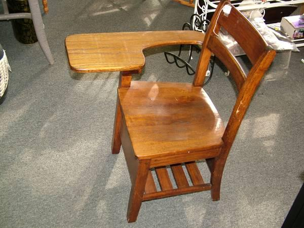 I have for sale a vintage wooden school desk. Does this - Late 1800's School Desk; One Piece - Two Seater For Sale In Athens