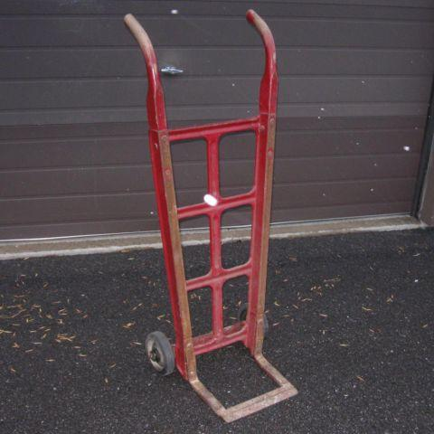 Vintage American Pulley Company Hand Truck For Sale In Red