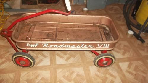 vintage amf roadmaster metal childs riding toy viii