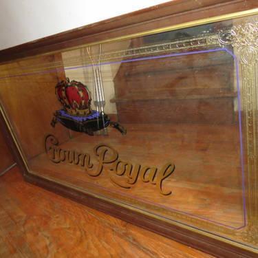 Vintage Antique Crown Royal Liquor Bar Mirror