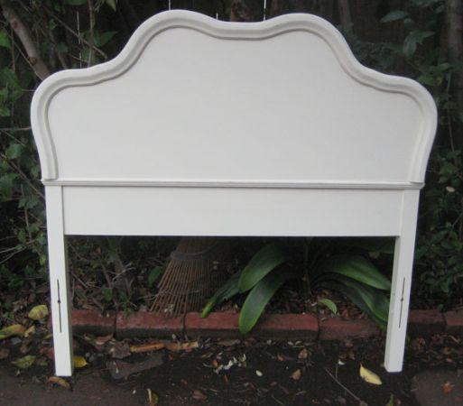 Vintage Antique White Twin And King Size Headboard