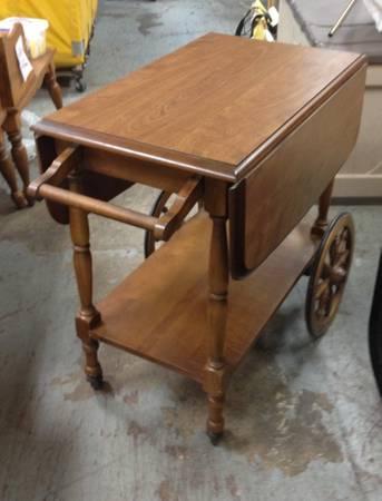 Vintage Antique Wood Tea Cart Table 75
