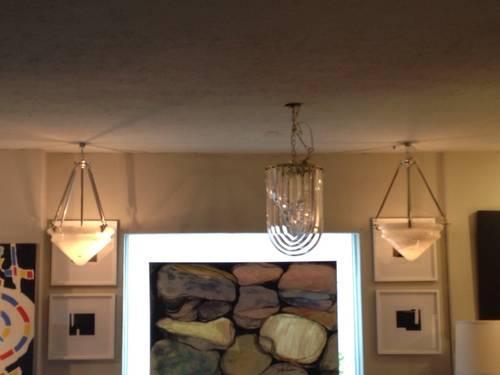 Vintage art deco alabaster pendant lights for sale in dallas texas vintage art deco alabaster pendant lights aloadofball Image collections