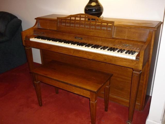 Vintage Baldwin Upright Piano W Storage Bench For Sale In