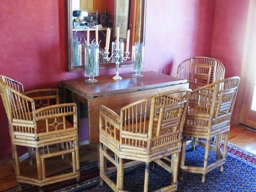 Vintage bamboo chairs chinese chippdendale from Thomasville