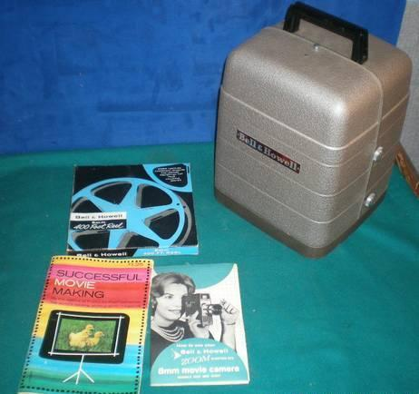 Vintage Bell  Howell 254RA 8mm movie film Projector  Box