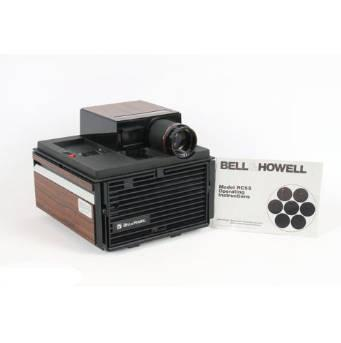 vintage bell howell model rc55 slide cube projector