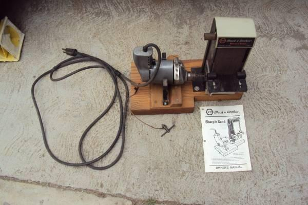 Vintage Black amp Decker Sharpn Sand with a drill for Sale