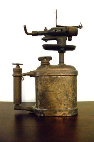 Vintage Blow Torch Rustic Farmhouse Dcor Steampunk