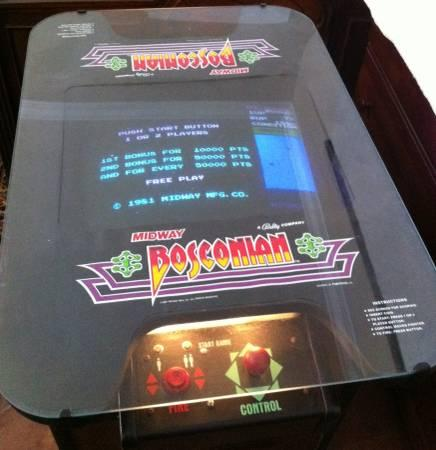 VINTAGE BOSCONIAN  GALAGA COCKTAIL TABLE VIDEO GAME - $600