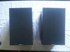 Vintage Boston Acoustic A40 Series II Black Bookshelf Speakers NICE