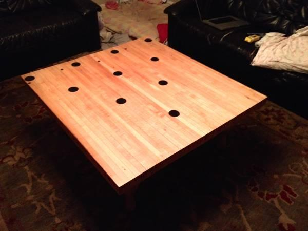 Vintage Bowling Lane Pinset Coffee Table For Sale In