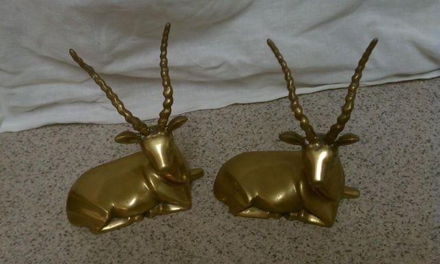 Vintage Brass Antelope Decor Set Of 2 For Sale In Deltona Florida Classified