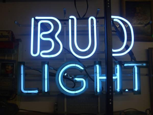 Vintage Bud Light Neon Sign - $300