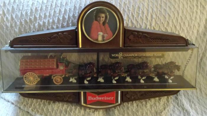 Vintage Budweiser World Champion Clydesdales Pool Table