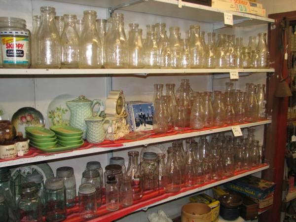 Vintage Canning Jars and Milk Bottles