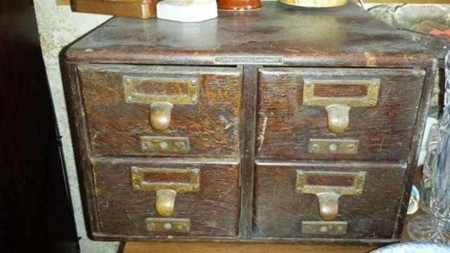 Vintage Card Catalog 4 Drawers For Sale In Conklin New York