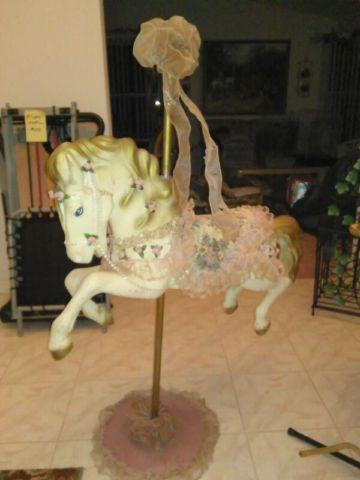 VINTAGE CAROUSEL HORSE-HAND MADE