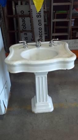 Vintage Cast Iron Barber Sink - $150