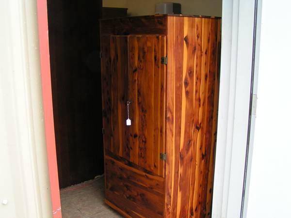vintage cedar wardrobe - $175