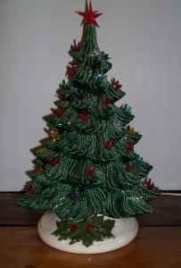 Vintage Ceramic Christmas Tree Lights Up Ames For Sale