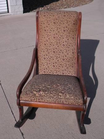 Vintage Child S Upholstered Rocking Chair For Sale In Elyria Ohio