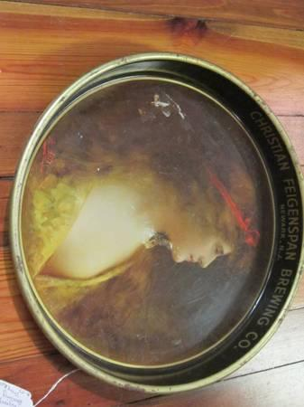 Vintage Christian Feigenspan Brewing Co. Beer Tray, c. 1930s - $20