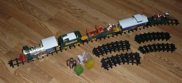 Vintage Christmas Magic Animated Train Set For Sale In